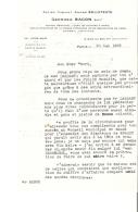 LETTRE - 75 - PARIS 7e - CONSEIL JURIDIQUE GEORGES BACON - 2 PAGES - 1935 - 640 - 1900 – 1949
