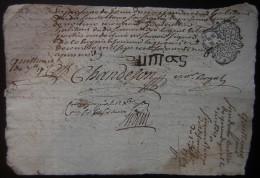 Généralité D'Auvergne, 1769  Quittance Famille Caille / Morex - Manuscripts