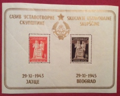 JUGOSLAVIA FOGLIETTO  BEOGRAD 1945 - Jugoslavia
