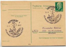 SAIGERTOR HETTSTEDT 1969 Auf  DDR Antwort-Postkarte P 77A - Ferien & Tourismus