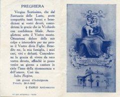 Trento - Santino Depliant Antico MADONNA MIRACOLOSA DEL CARMELO DELLE LASTE - OTTIMO M46 - Religione & Esoterismo