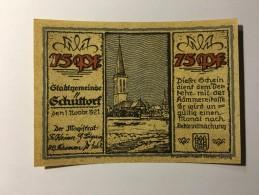 Allemagne Notgeld Schuttorf 75 Pfennig 1921 NEUF - [ 3] 1918-1933 : République De Weimar