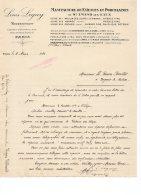 F493 - LETTRE - 75 - PARIS 10e - LOUIS LEGUY - FAIENCES & PORCELAINES DE St AMAND LES EAUX HAMAGE ORCHIES - France
