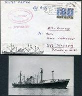 1970 Rotterdam Netherlands Ship Cover (+ Photo) Nedlloyd BOVENKERK - Covers & Documents