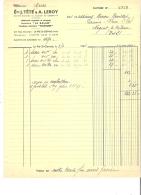 FACTURE - 93 - PRE SAINT GERVAIS - ORFEVRERIE CAFETIERE LA SALAM Ets J. TETE & A. LEROY - 1936 - B005 - France