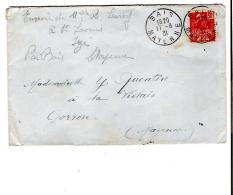 ENV. BAIS (53) - 50c EXPOSITION COLONIALE ROUGE 1931 - CACHET 11.08.1931 - 195 - Marcophilie (Lettres)