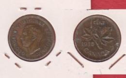 Canada  // 1 Cent 1938  //  KM # 32 //   état TB  // - Canada