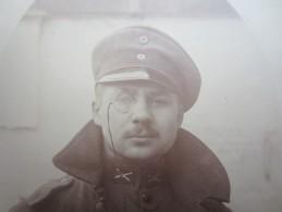 PHOTO-CARTE (M1609) PORTRAIT D'UN MILITAIRE (2 Vues) - Guerre, Militaire