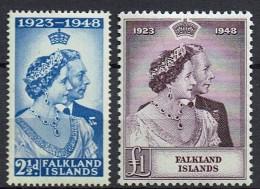 Falkland Islands  1948  SG 166-167  */mint  (£  92.00) - Falkland Islands