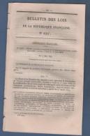 1879 BULLETIN DES LOIS - UNION POSTALE UNIVERSELLE - LETTRES - MANDATS POSTE - Decreti & Leggi