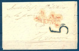 1843 , ZAMORA , CARTA CIRCULADA DESDE VEGA DE VILLALOBOS AL JEFE POLÍTICO DE LA PROVINCIA DE ZAMORA - España