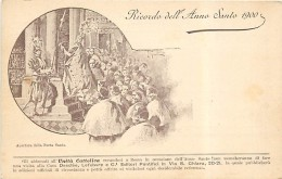 CARTOLINA RICORDO DELL'ANNO SANTO 1900 CON L'APERTURA DELLA PORTA SANTA. NON VIAGGIATA - Christianity