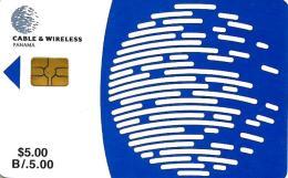 PANAMA $5 C&W LOGO EARTH  REGULAR EDICION  CHIP SMALL NOT DATED 1997  READ DESCRIPTION !!