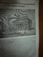 1834 LM : Le Panthéon D'Agrippa à ROME; Le Promérops (oiseau) Selon Buffon ;Amphithéâtre D'ARLES;  Clotaire II ; - Vieux Papiers
