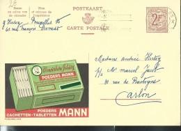 Publibel Obl. N° 2112 ( Poudres Et Cachets MANN) Obl: Bxl - Entiers Postaux