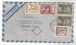 1961 Air Mail ARGENTINA Multi Stamps COVER To GB - Lettres & Documents