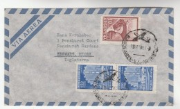1961 Air Mail ARGENTINA FLIGHT COVER To GB Aviation Stamps - Argentine
