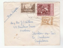 Air Mail ARGENTINA Stamps COVER To GB - Argentine