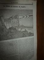 1834 LM : Le Palais De Jeanne De NAPLES; L'HIBIS Sacré, Selon Buffon; Le Buffle; Le TABAC; Le KUTTUB-MINAR  (Dehli) - Vieux Papiers