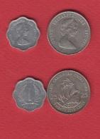 East Caribbean States  --  Lot De 2 Monnaies - Guyana