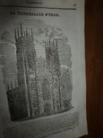 1834 LM :La Cathédrale D'YORK (Londres);Le Paradisier Rouge (oiseau); Château Et Pont Saint-Ange à ROME;  CHILPERIC - Vieux Papiers