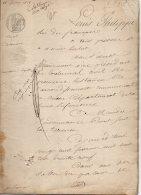 LOUIS PHILIPPE - PROCUREUR ROUEN - ENQUETE DUVAL DELAMARE - TIMBRE ROYAL 1f25 - TIMBRE SEC - 1839 - 113 - Fiscali