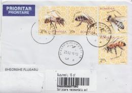ROMANIA : HONEY BEES Cover Circulated To MOLDOVA - Envoi Enregistre! Registered Shipping! - Abeilles