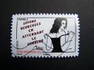OBLITERE FRANCE ANNEE 2011 N° 542 SERIE FEMME DE L´ETRE DE MISS TIC SOYONS HEUREUSE EN ATTENDANT LE  AUTOCOLLANT ADHESIF - France