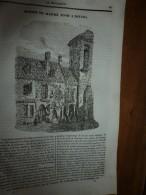 1834 LM :Maison De Maitre ADAM à Nevers; L'arbre Tueur MANCENILLIER; Diligence-vapeur; Docks De Londres; Le TOUCAN TOCO - Vieux Papiers