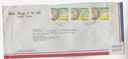 1966 Air Mail COLOMBIA COVER  Stamps 3x 3.00 MAP To GB - Colombia