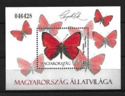 Bloc Sheet Papillon Papillons Butterfly Neuf ** MNH Hongrie Ungarn Hungary 2011 - Blocs-feuillets