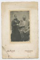 PHOTO ORIGINALE (5,5X9) COLLÉE SUR CARTON (11X16) - COUPLE, PHOTOGRAPHE: R: DUPREZ À DIJON - Anciennes (Av. 1900)