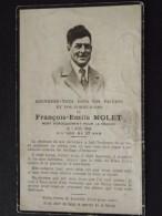 PARIS - Faire-part De Décès - François MOLET - FUSILLE Au MONT-VALERIEN Le 7 Avril 1942 - 2ème Guerre - WW2 - Format CDV - Obituary Notices