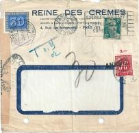 Suisse Devant De Lettre Taxée Et Annulée 1945 - Briefe U. Dokumente