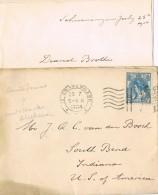 17569. Carta SCHEVEINGEN (quartier La Haya)  1906. Fechadr Gravenhage - Periode 1891-1948 (Wilhelmina)