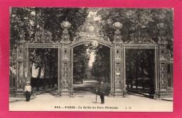 75 PARIS, La Grille Du Parc Monceau, Animée,  (J. H.) - Zonder Classificatie
