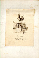GRLT3 Ex Libris Arthur Meyer Petit Fils De Rabin, Graveur Stern - Ex-libris