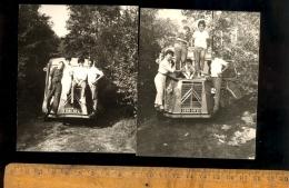 Photographie Originale : X4 Automobile Voiture Camionnette CITROEN TUB Type H  / Wagen Car Auto Macchina - Automobili