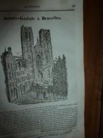 1834 LM :Sainte-Gudule à Bruxelles;Le Phare De BELL-ROCH (Scotland);Le Chameau; Le COMBATTANT(oiseau);TROMBOË (Laponie) - Vieux Papiers