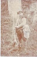 CHASSEUR ET SON CHIEN - CACHET DE ST SAPHORIN -1.01.1907 - TB - VD Waadt