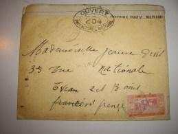 SENEGAL  1916 COVER   Contole  Pour La France ! EVIAN- Avec Contenu - Marcophilie (Lettres)