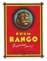 """Petite Etiquette Rhum Supérieur  Vieux Rhum Rango  """"tête De Lion"""" Compagnie Métropolitaine Des Rhum Paris Superbe - Rhum"""