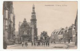 WAMBRECHIES - La Mairie - La Place - Animée - Altri Comuni