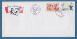 207726 / 1995 - 50° Anniversaire De La Libération - FORBACH 57 , 70 Th DIVISION USA , France Frankreich Francia - Covers & Documents