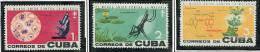(cl.35 - P.65) Cuba * N° 639 à 641 - Eradication Du Paludisme - - Maladies