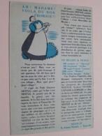 Nestlé NESTLE à Paris - AH ! Madame ! Voila Du Bon Fromage !! ( Au Clair De La Lune ( Detail Zie Foto´s ) ! - Publicités