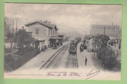 SAINT VALLIER Sur RHONE - La GARE Avec Arrivée Du Train Et Quais Animés - BE -  Edition Boucherand Dorel - 2 Scans - France