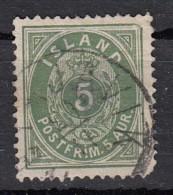Islande Valeur En  Aur  5 Vert  YT N° 13 - Oblitérés