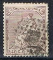 Sello Alegoria España 40 Cts. Edifil Num 136 º - 1873-74 Regencia