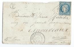 LETTRE 20 C CERES  BOURMONT  A  ESNOUVEAUX   GC - 1849-1876: Période Classique